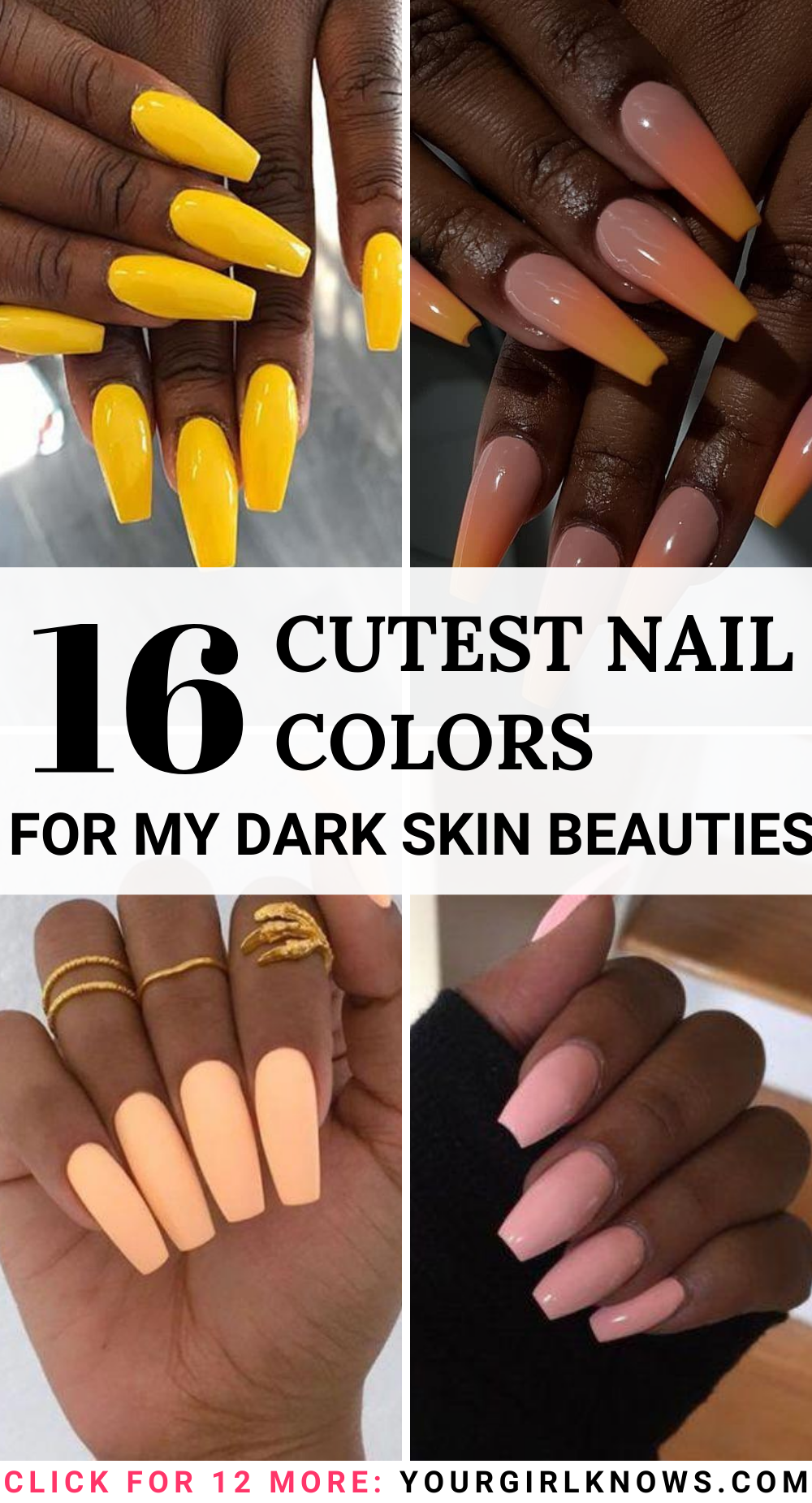16 Best Colours Dark Skin Nail Polish That You Will Absolutely Love Ygk In 2020 Cute Nail Colors Dark Skin Nail Polish Nail Colors