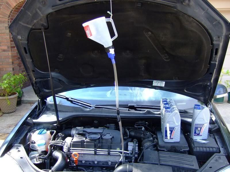 Diy Dsg Oil Change Scheduled Maintenance Audi Tt Transmission