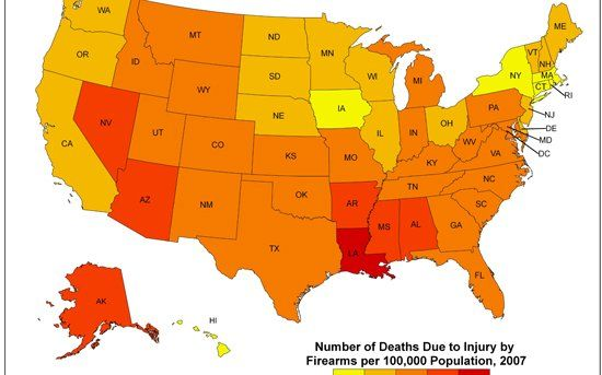 Americas Gun Violence Map Race Class Gender and Much More