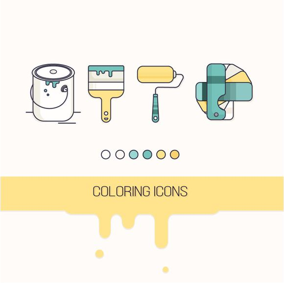 Coloring icons  by VDP on @creativework247