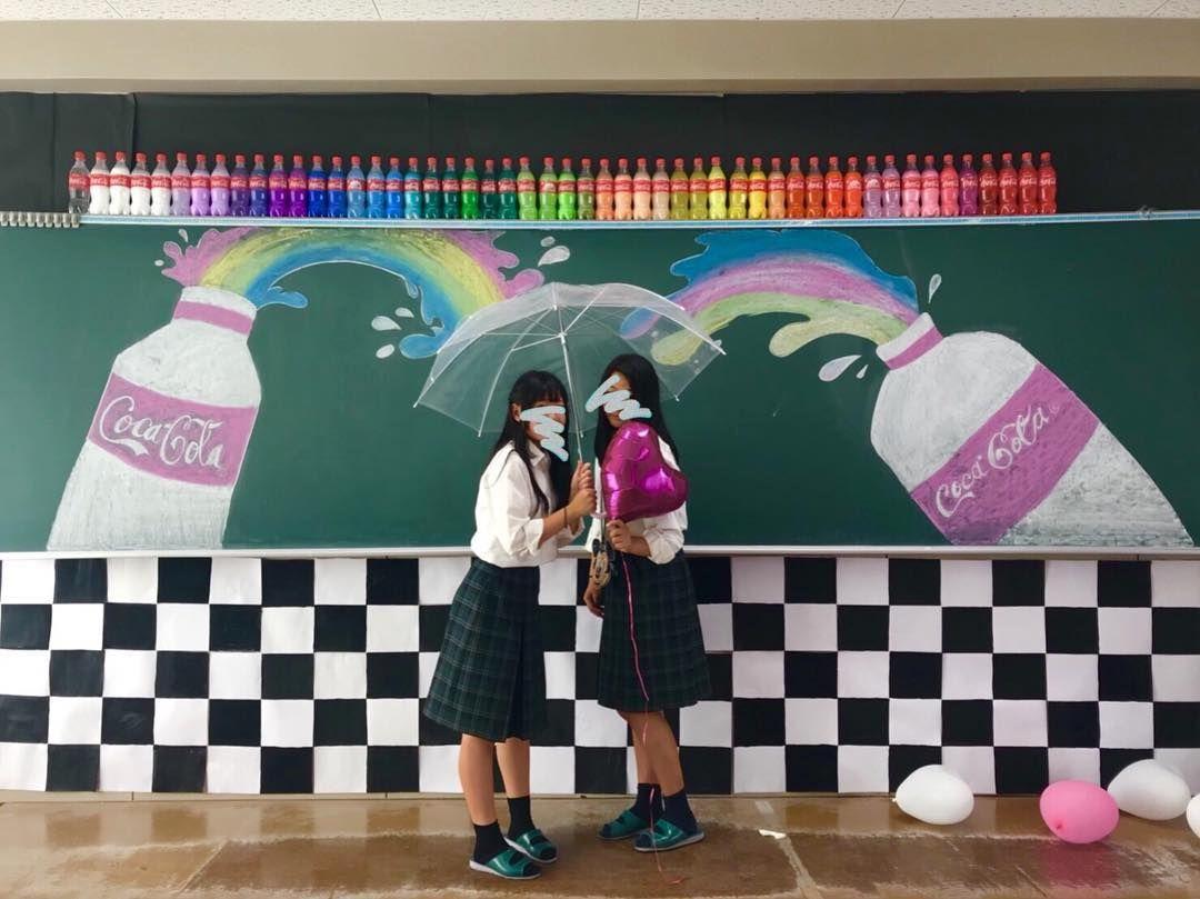ウェルカムスペースに真似したい 完成度が高すぎる高校生の 文化祭装飾 が凄い Marry マリー 文化祭 飾り付け 黒板アート 学校の飾り付け