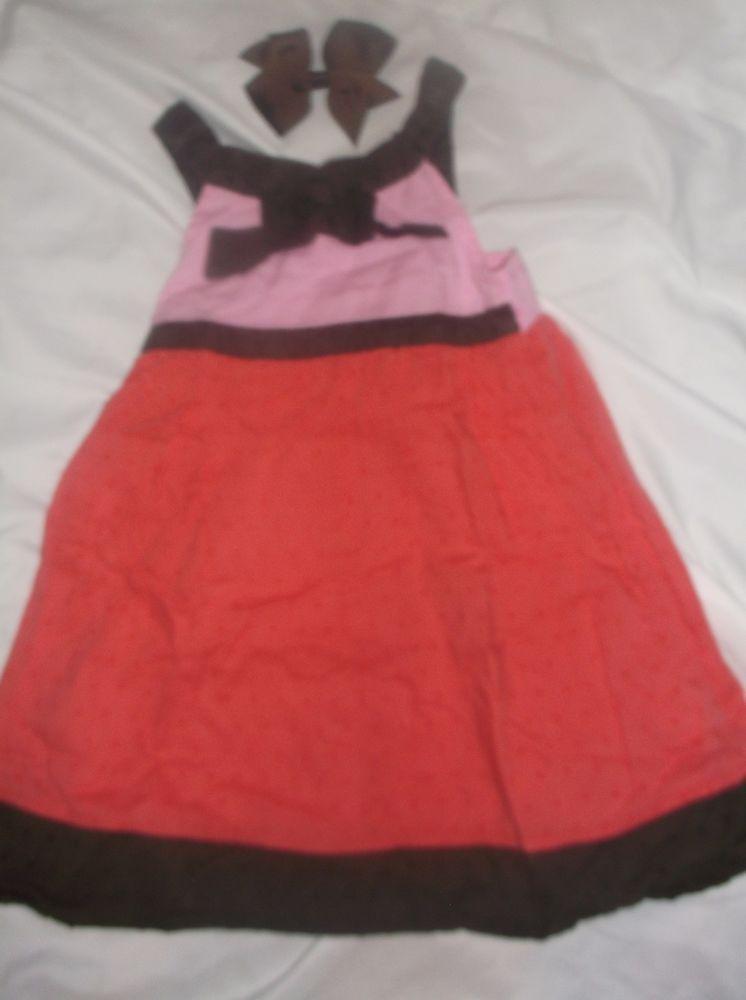 ccd144ae0dad OSHKOSH     3T    DRESS    Cute Color Block Lt Pnk Brn Brite Pnk ...