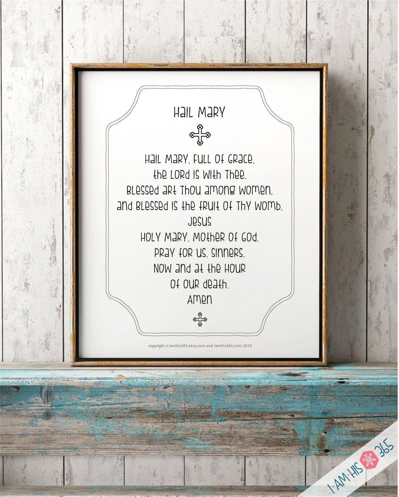 Hail Mary Prayer Print