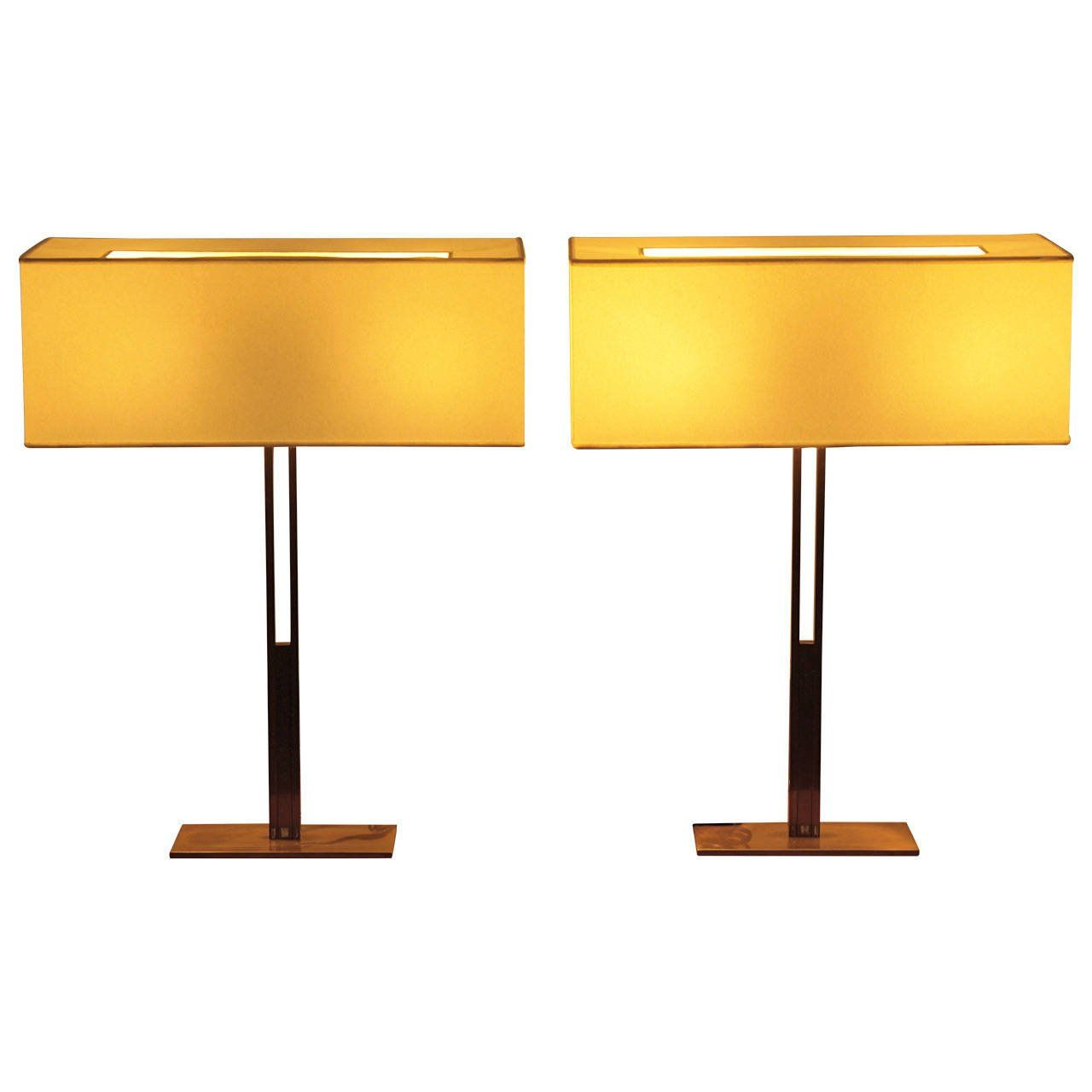 Pair Of Christian Liaigre Canisse Table Lamps For Holly Hunt