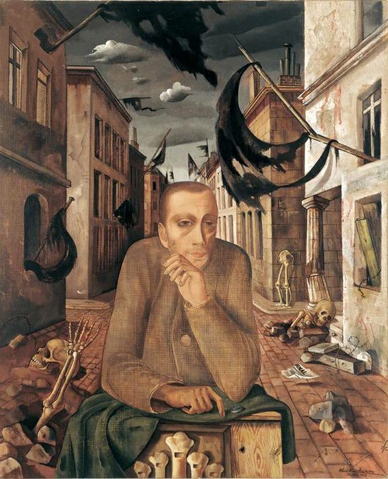"Felix Nussbaum ""Organ Grinder"" 1943 oil on canvas"