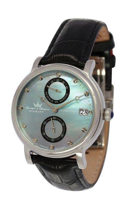 Yonger & Bresson YBD 8521-01 VS - Reloj de pulsera mujer, piel, color negro