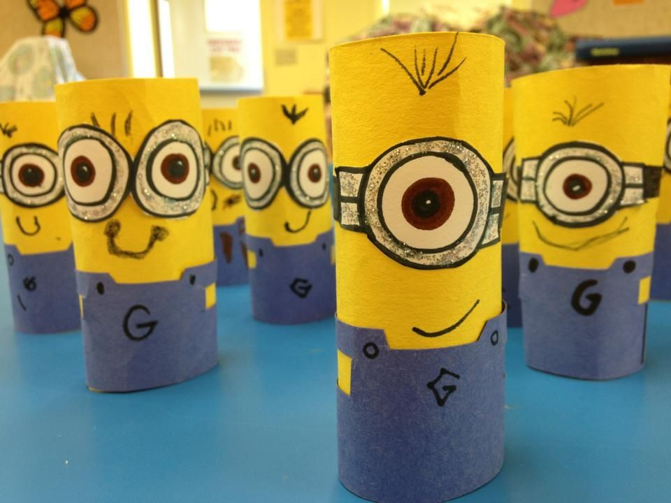 minion craft for the kiddies easy and fun art class
