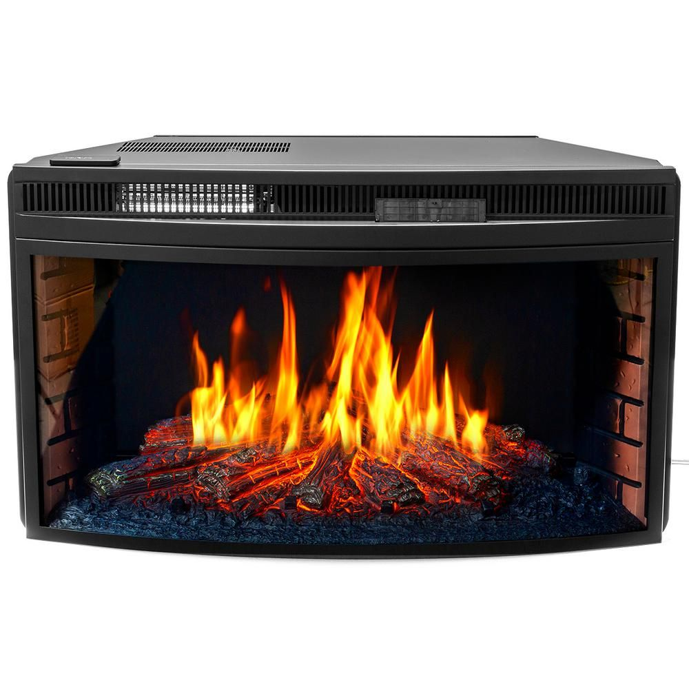 Xtremepowerus 33 In 1400 Watt Black Electric Firebox Fireplace
