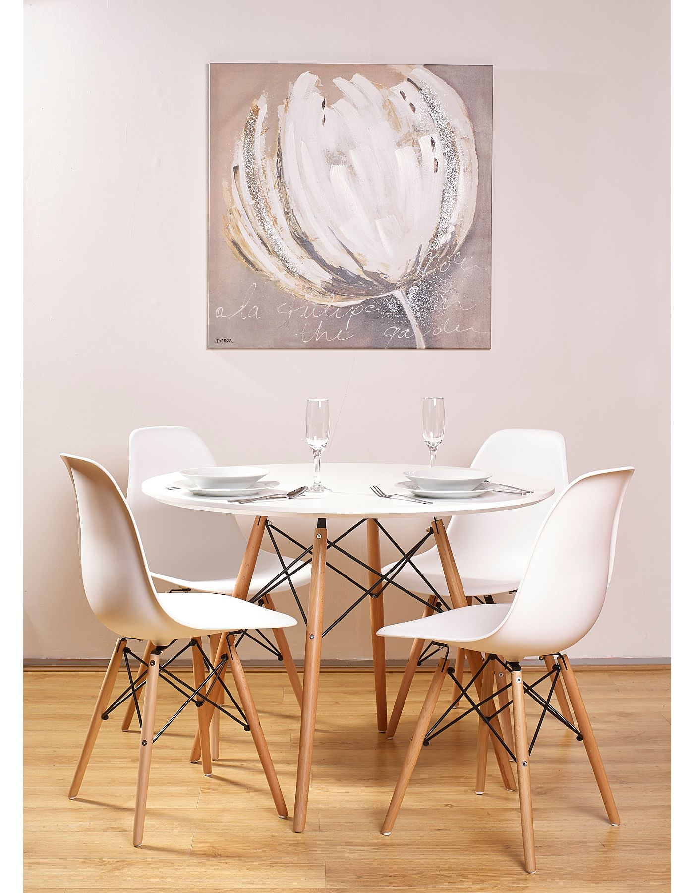 Seine 100cm Round Dining Table White Dining Tables Chairs Asda Direct