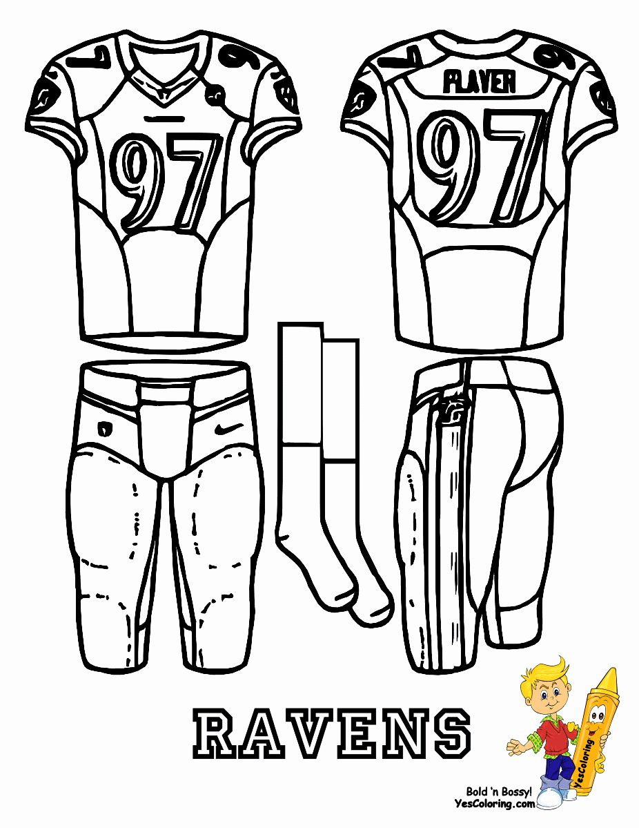 Football Jersey Coloring Page Lovely Football Jersey Coloring Pages In 2020 Football Coloring Pages Free Football Football Uniforms