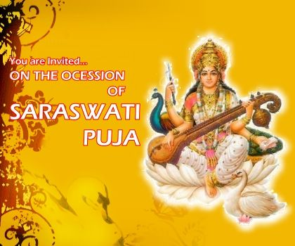 Image result for saraswati puja
