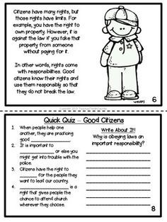 Citizenship Printable Activity Book- Rights and ...
