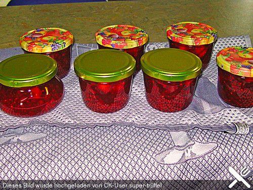 Erdbeer Johannisbeer Marmelade Eis Und Marmelade Pinterest