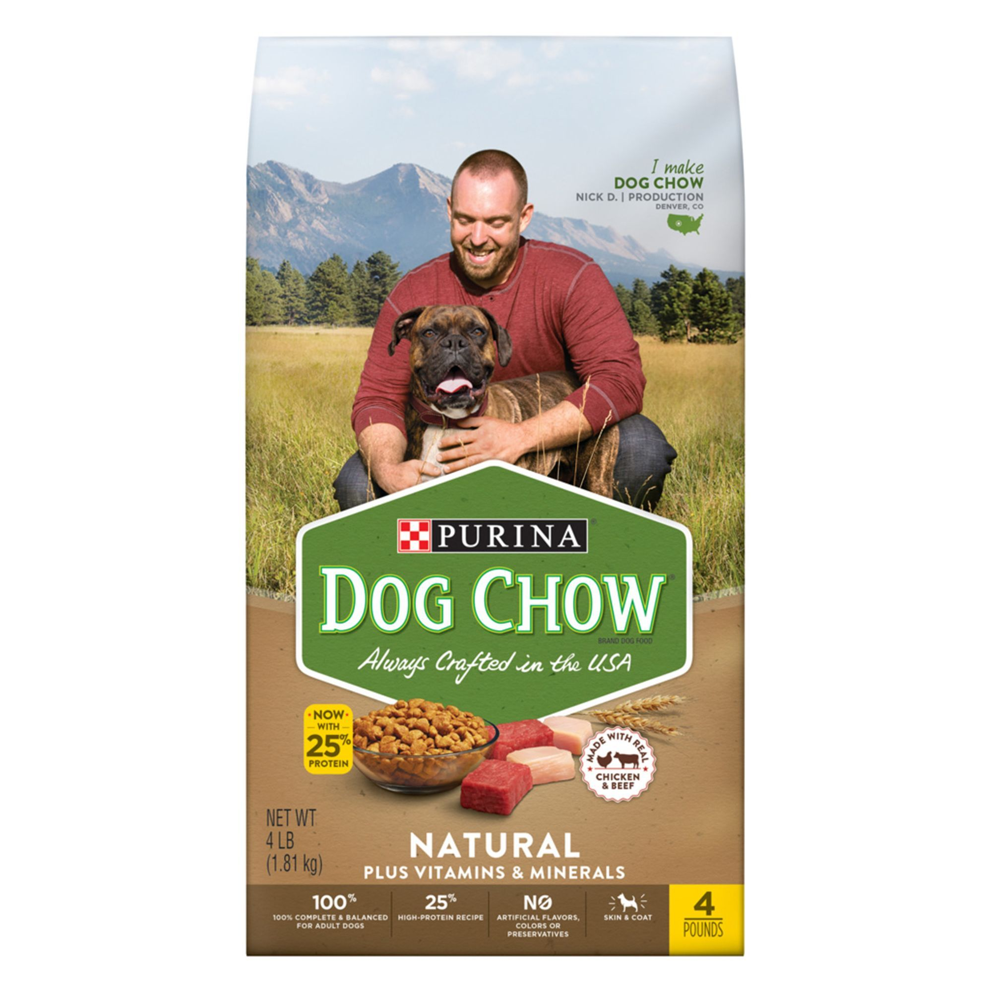 Purina Dog Chow Natural Dog Food Chicken Size 4 Lb Kibble