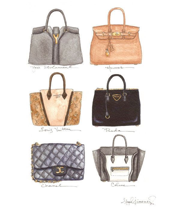 06a88a362d8b Prada, Chanel, Hermes, Celine, Yves St. Laurent and Louis Vuitton... Oh My!  Six of the old and new Classics.