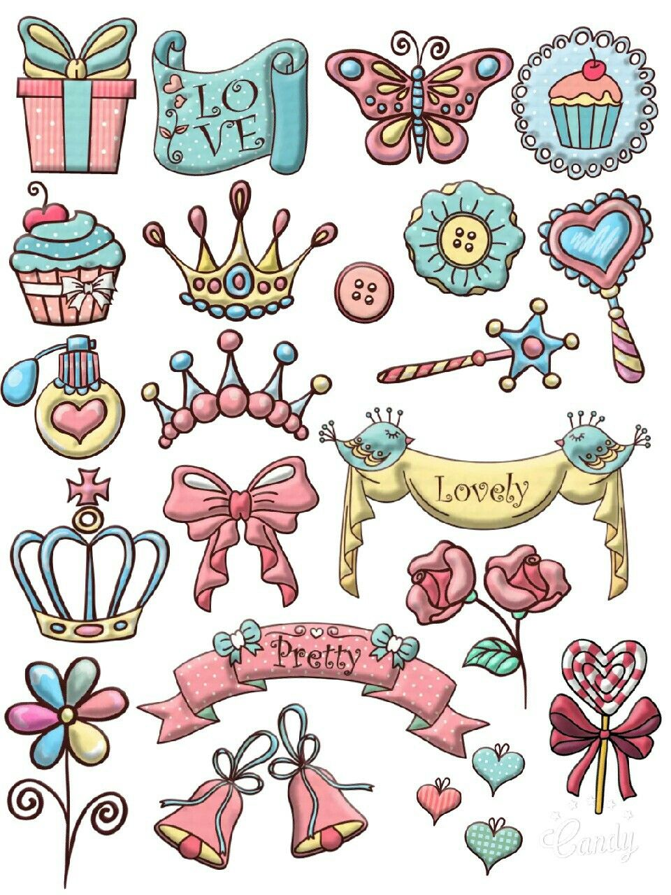 Queen stuff stickers printable stickers printable free queen stuff girly cute scrapbooktools candycameraapp diy