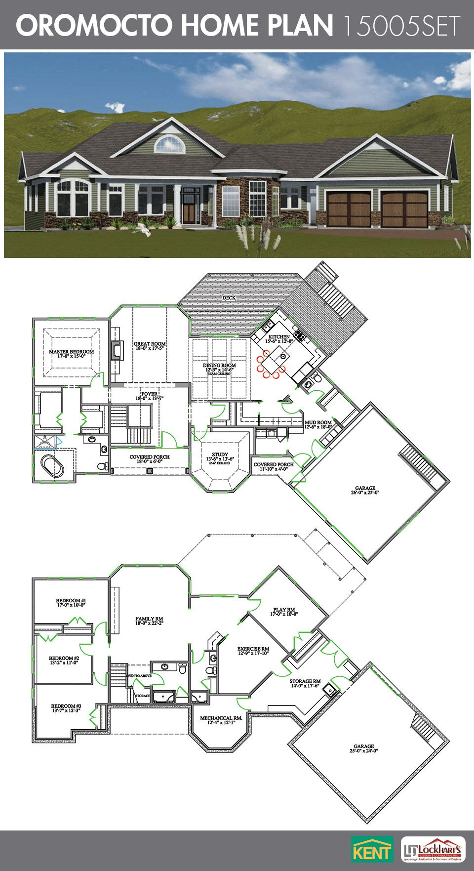 Oromocto Home Plan House Plans Open Concept Great Room Kent Building