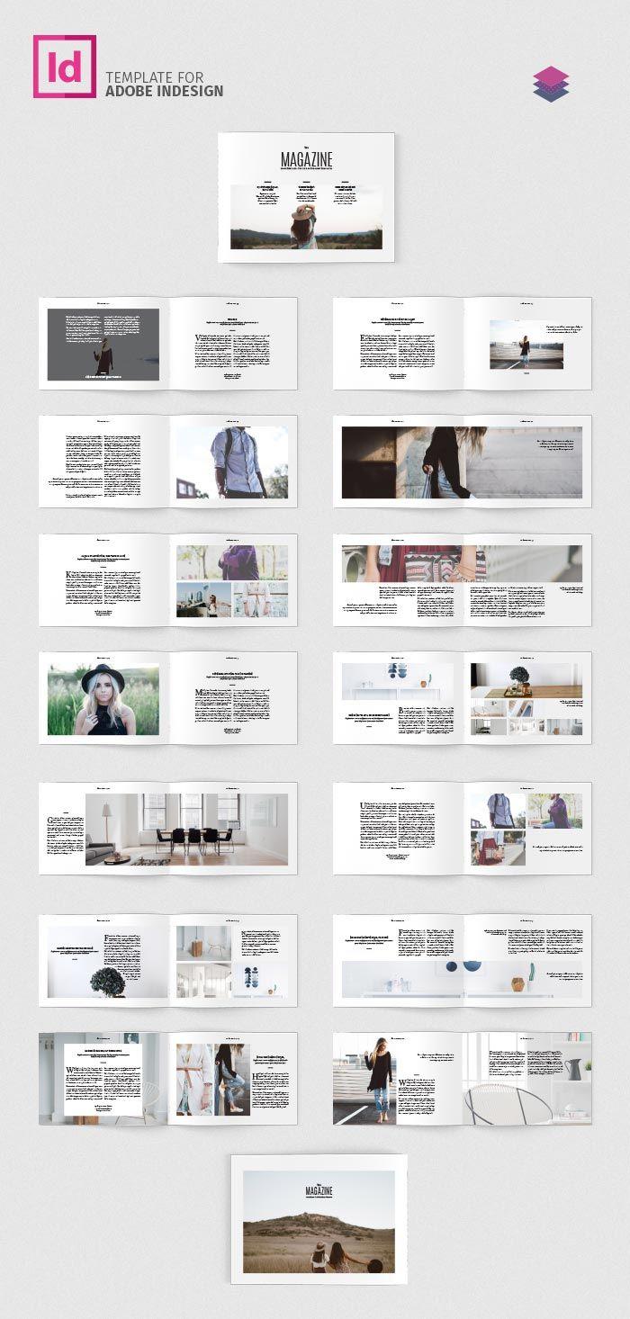 FREE Minimal Magazine Landscape | adobe | Pinterest
