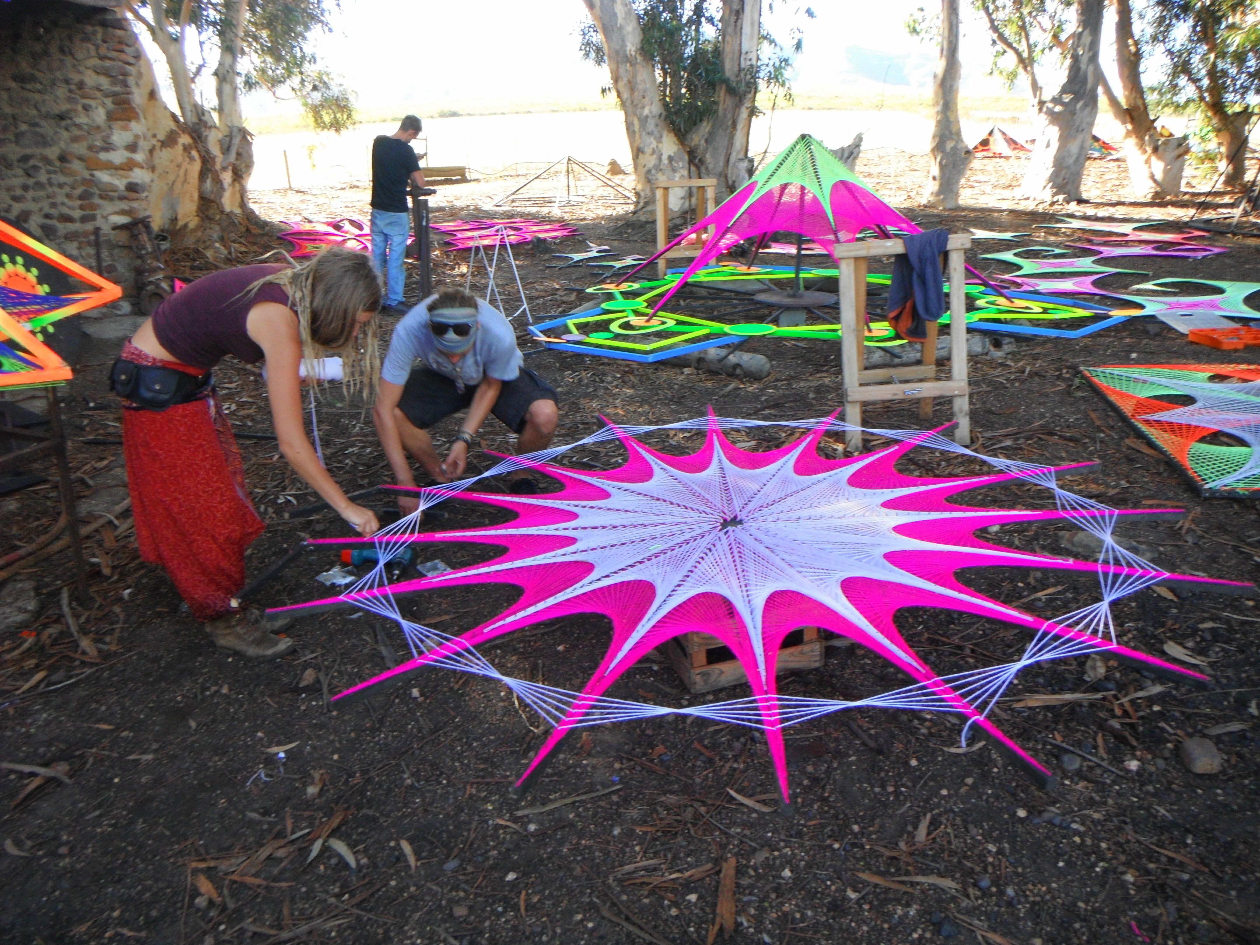 Art Décor: String Art, Festival Decor, Psychedelic, UV Active, Taken