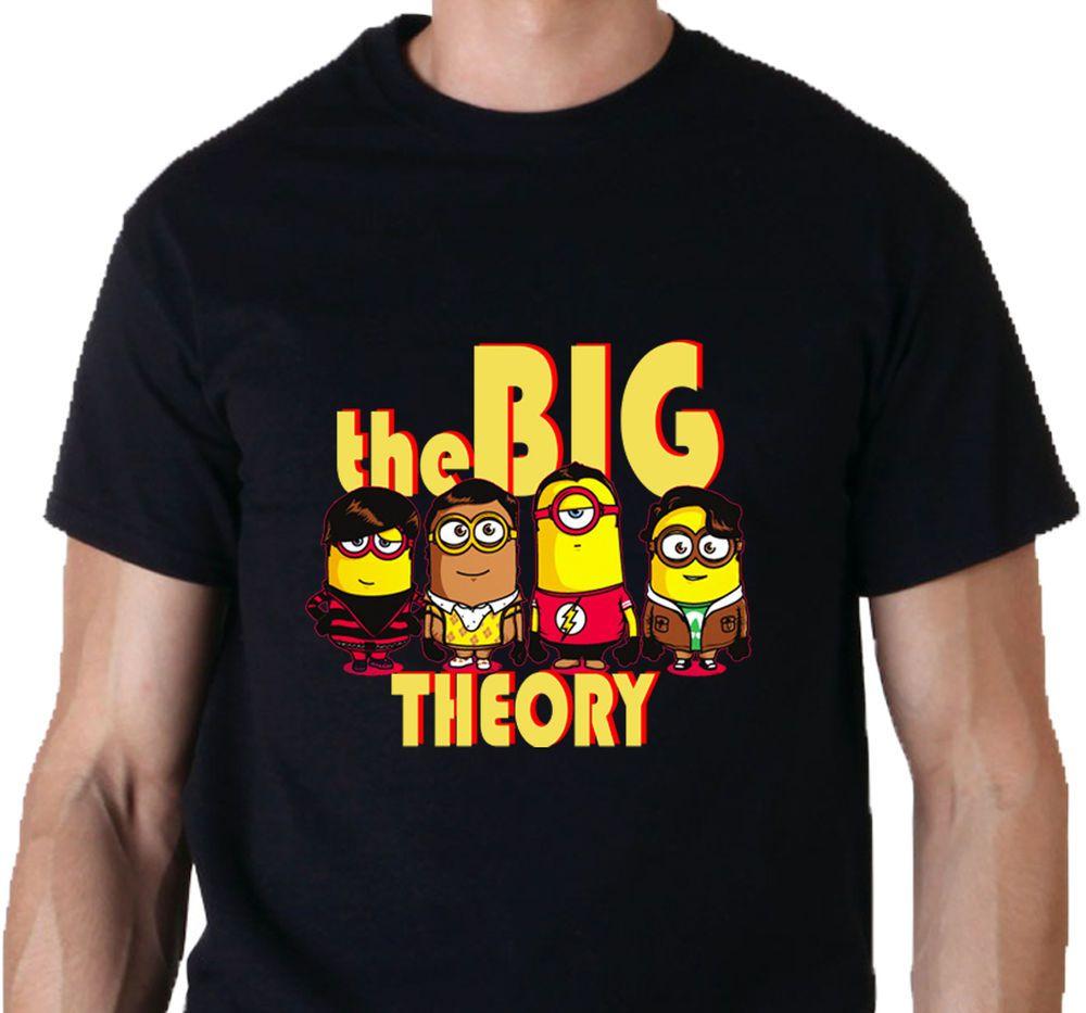 Black t shirt xl - New The Big Minion Theory Big Bang Funny Cartoon Mens T Shirt Tee Size S M L Xl