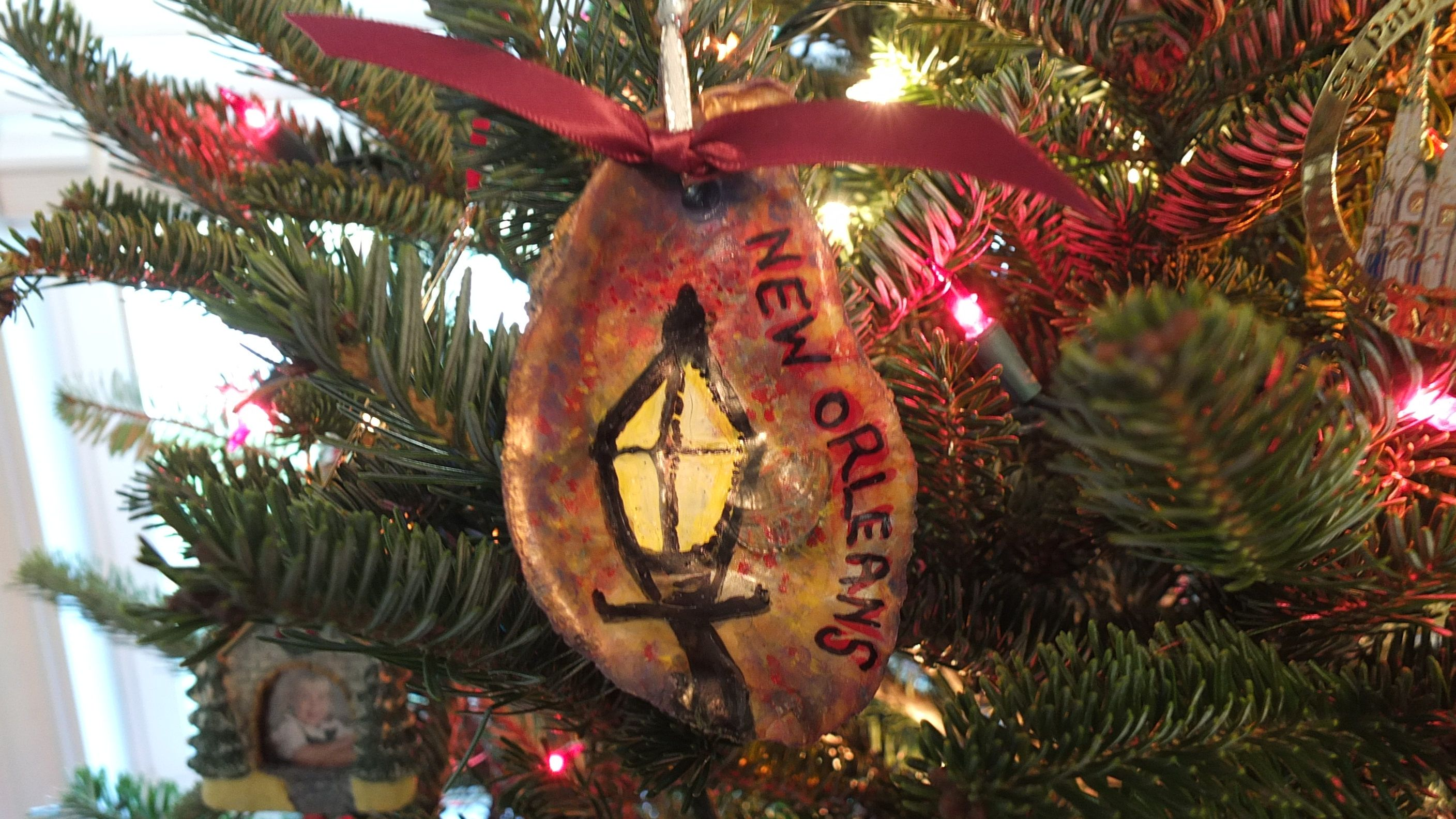 New Orleans Christmas Lamp Post - Remember NOLA with Oyster Ornament ...