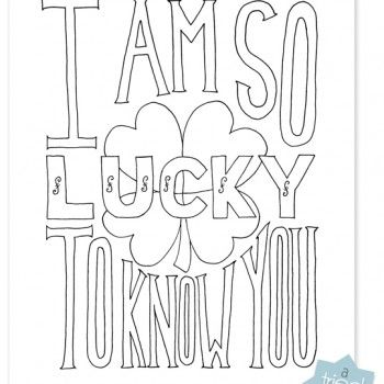 So Lucky Coloring Print A Tried True Print Free Coloring Pages Coloring Pages Cool Coloring Pages