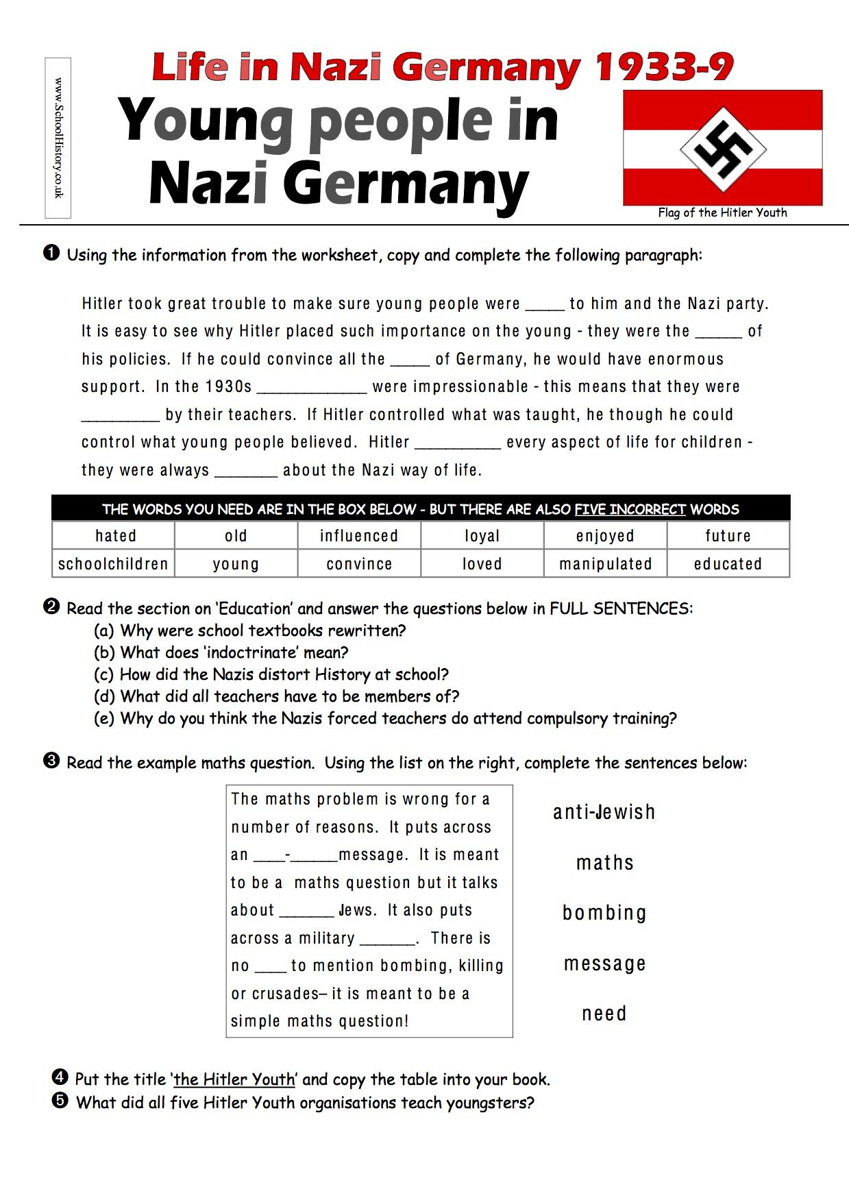 Vast Range Of World War 1 The Great War Worksheets