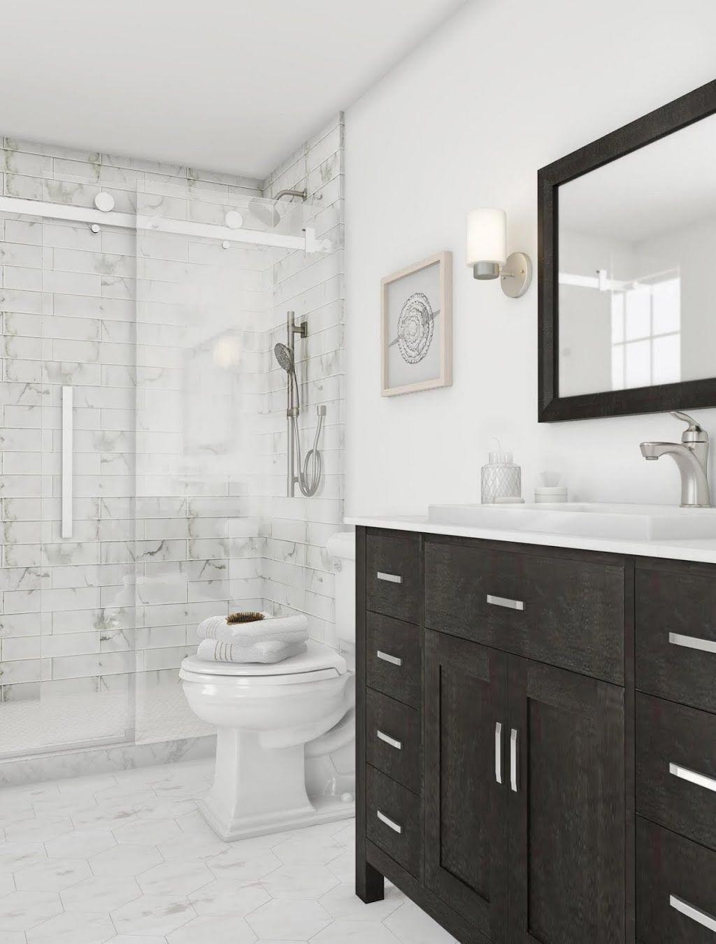 Msi Marmi Blanco White 4 In X 16 In Glazed Ceramic Wall Tile 11 Sq Ft Case Nhdmarbla4x16 Th In 2020 Bathroom Trends Bathrooms Remodel Bathroom Design Small