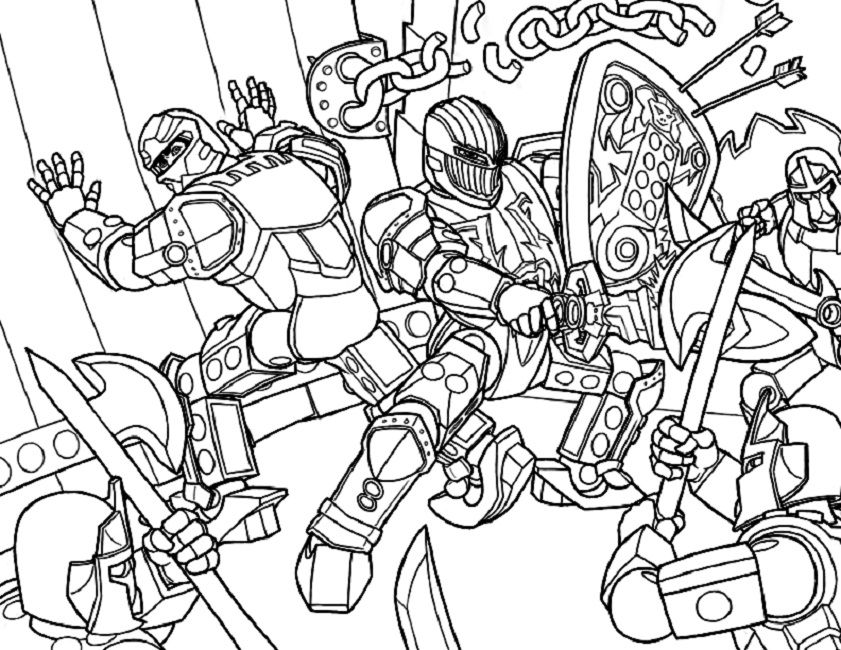 Coloring Pages Lego Hero Factory