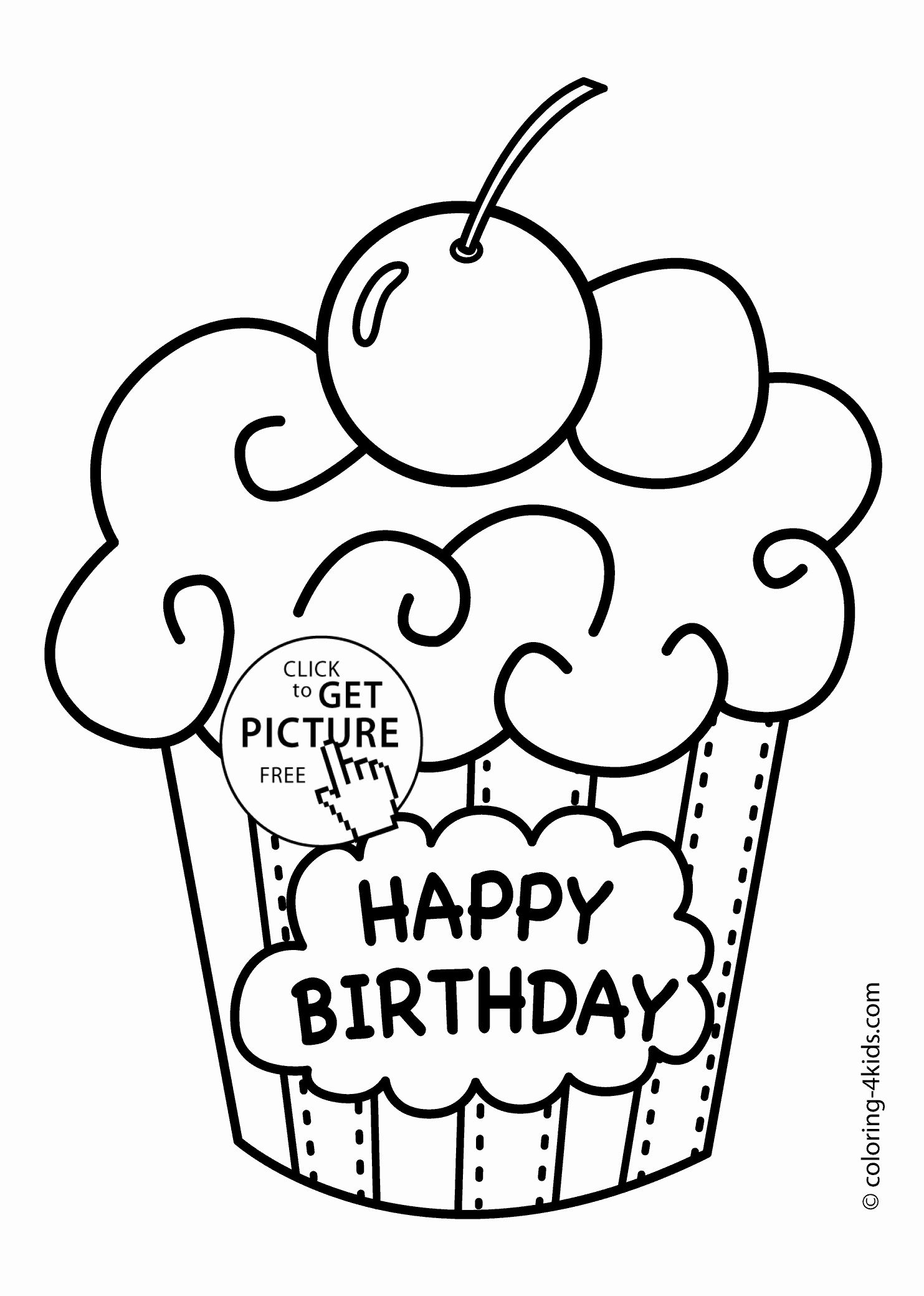 Vegetable Coloring Pages To Print Beautiful Happy Birthday Print Out Coloring Page Happy Birthday Coloring Pages Coloring Birthday Cards Cupcake Coloring Pages
