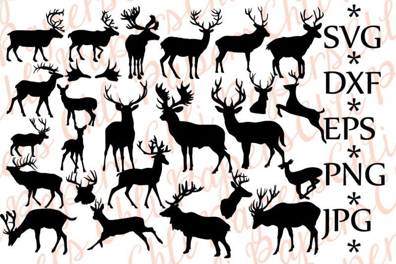 Free Deer Silhouettes Svg Deer Svg Silhouettes Svg Crafter File Silhouette Svg Deer Silhouette Silhouette