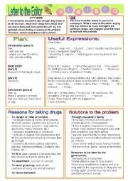 English worksheet: Letter to the Editor - DRUGS (ECCE) | english ...