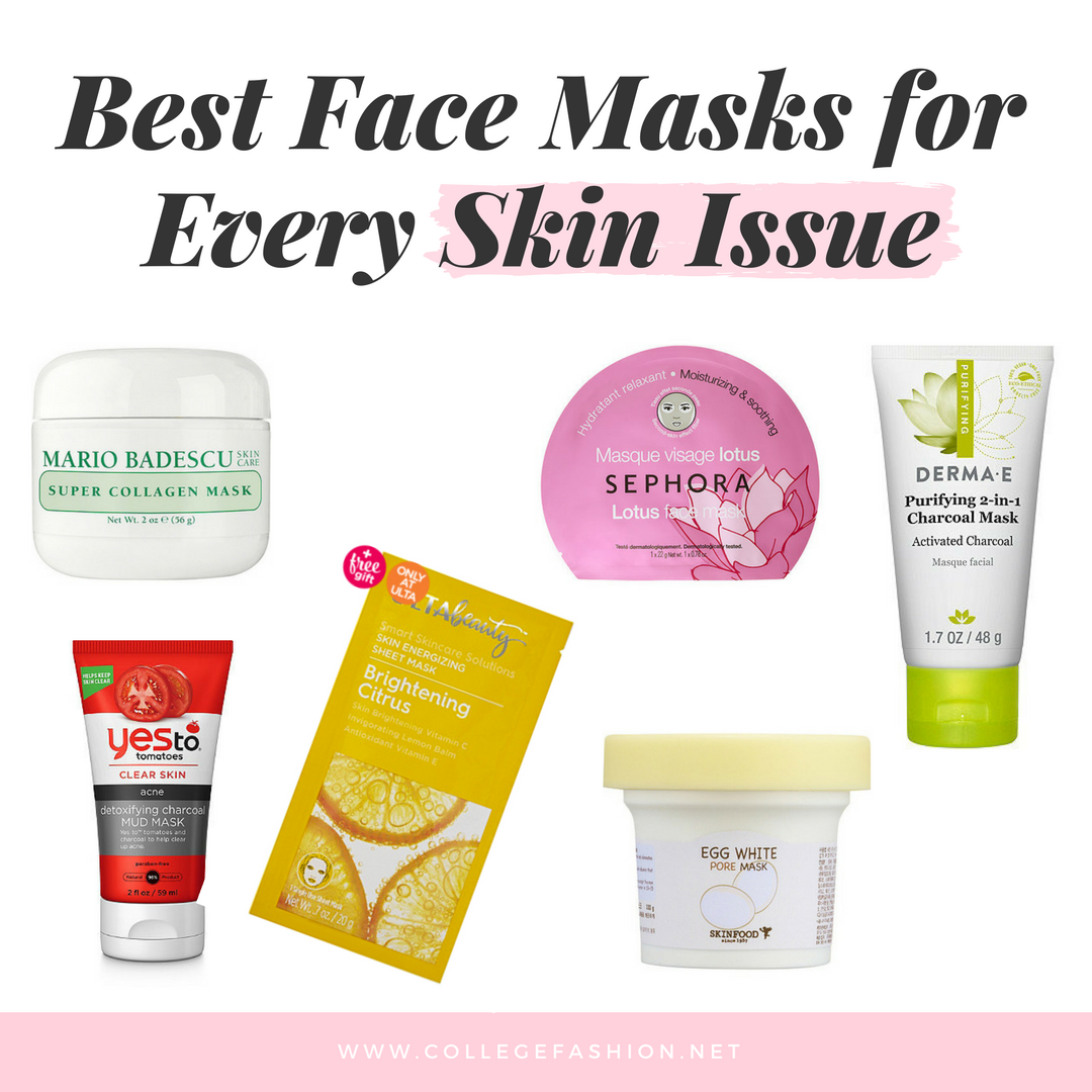Best face masks for every skin issue Dry skin, anti aging