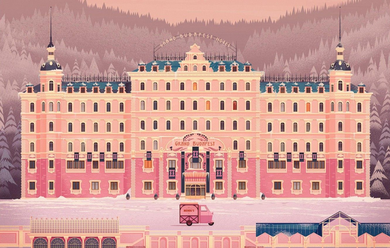 Wallpaper House Style The Building Architecture Art Art The Hotel The Film Style Digital Hotel Il In 2020 Grand Budapest Hotel Budapest Hotel Grand Budapest