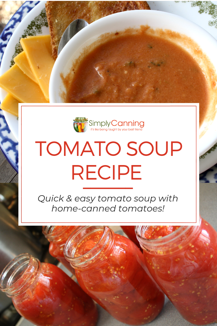 Homemade Tomato Soup Recipe Easy homemade creamy tomato soup recipe Made with home canned tomatoes Easy healthy and fresh tasting soup recipe