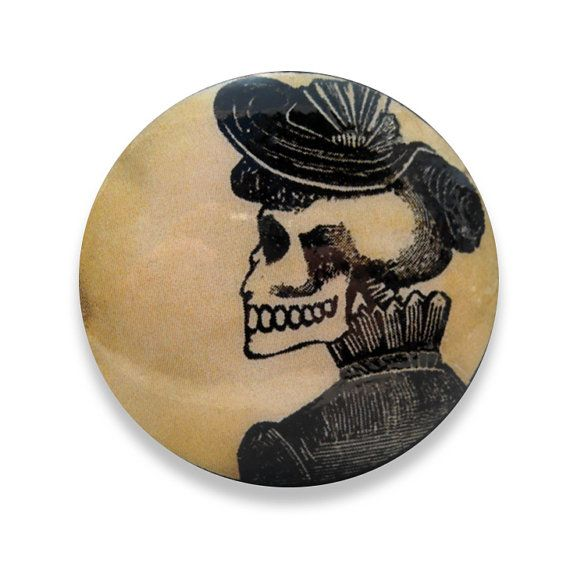 Antique Skull Design Ceramic Knobs Pulls Kitchen Drawer Dresser Cabinet 1013