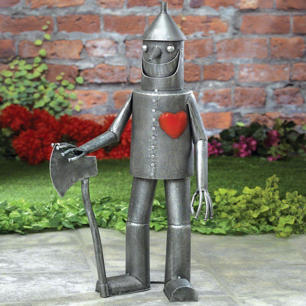 amazon com steadfast tin woodman with a heart garden sculpture