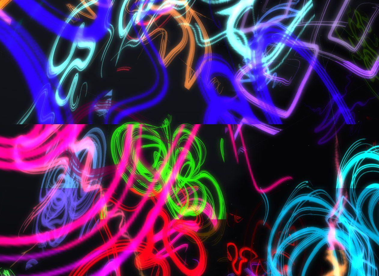 Light Graffiti Neon Light Graffiti Background