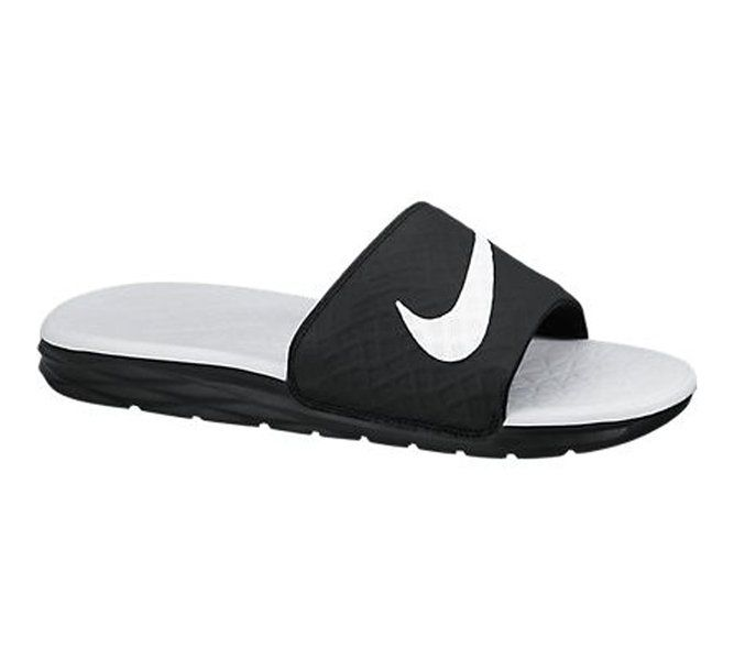Black  NIKE WMNS BENASSI SOLARSOFT SLIDE 2 BLACK WHITE