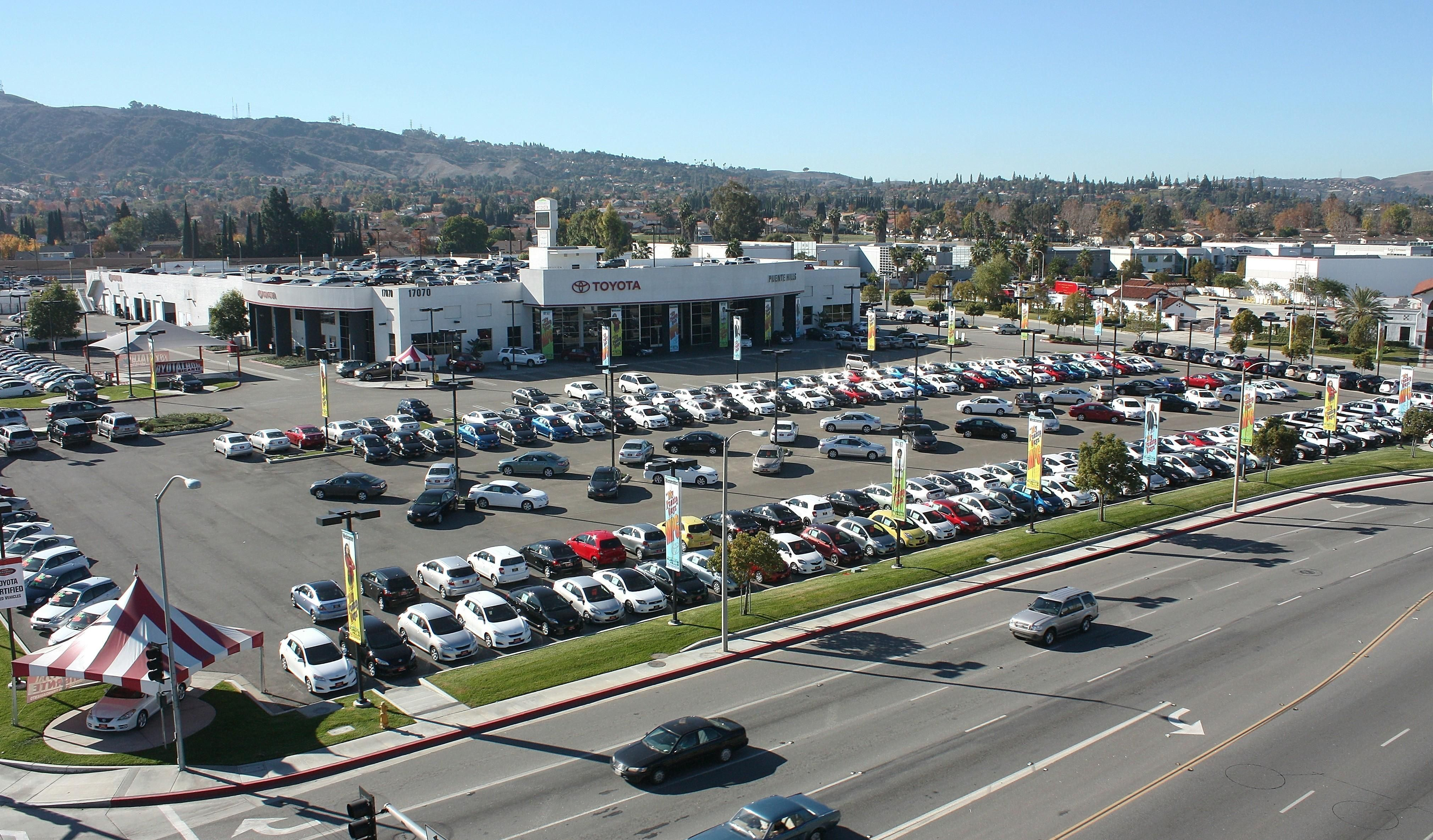 Aerial View Of Puente Hills Toyota