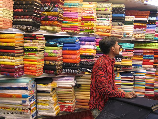Karachi Colorful Fabric Shop Pakistan Fabric Shop Display