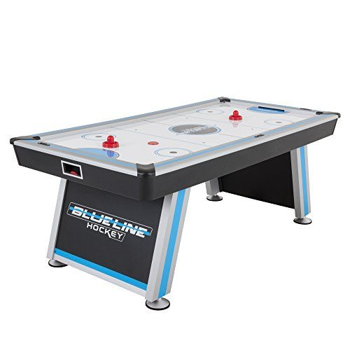 The Triumph Blue Line 7 Air Hockey Table Is A Full Size Table That Will Supply Hours Of Satisfaction F In 2020 Air Hockey Table Air Hockey Table Tennis Conversion Top