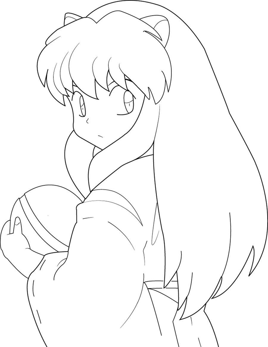 Downloads Online Coloring Page Inuyasha Coloring Pages 53 For Line Drawings With Inuyasha Coloring Pages Cartoon Coloring Pages Coloring Pages Cartoon Flowers