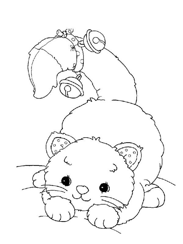 Cats Coloring Page 59 Wallpaper
