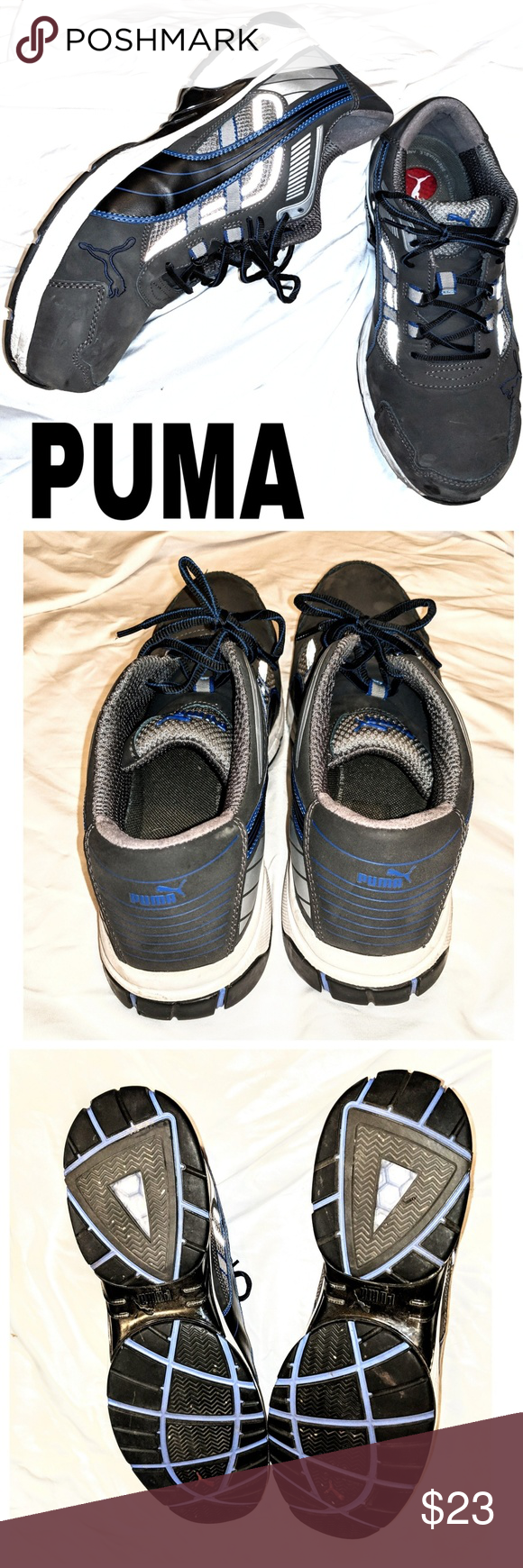 Mens Steal TOE Duo Cell tennis shoes. Size 14 Well pad heel. Super Cradle.  Puma Shoes Sneakers ea7f4ac30cd