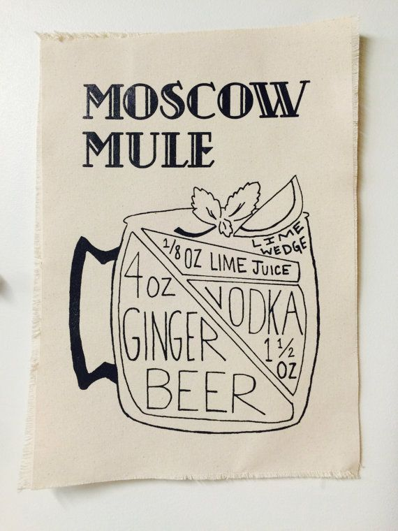 Moscow Mule Recipe Canvas Print Moscow Mule Recipe