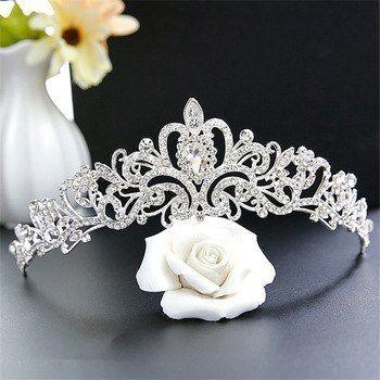 Photo of Bridal Crown Headdress Wedding Crown Wedding Jewelry Wedding…