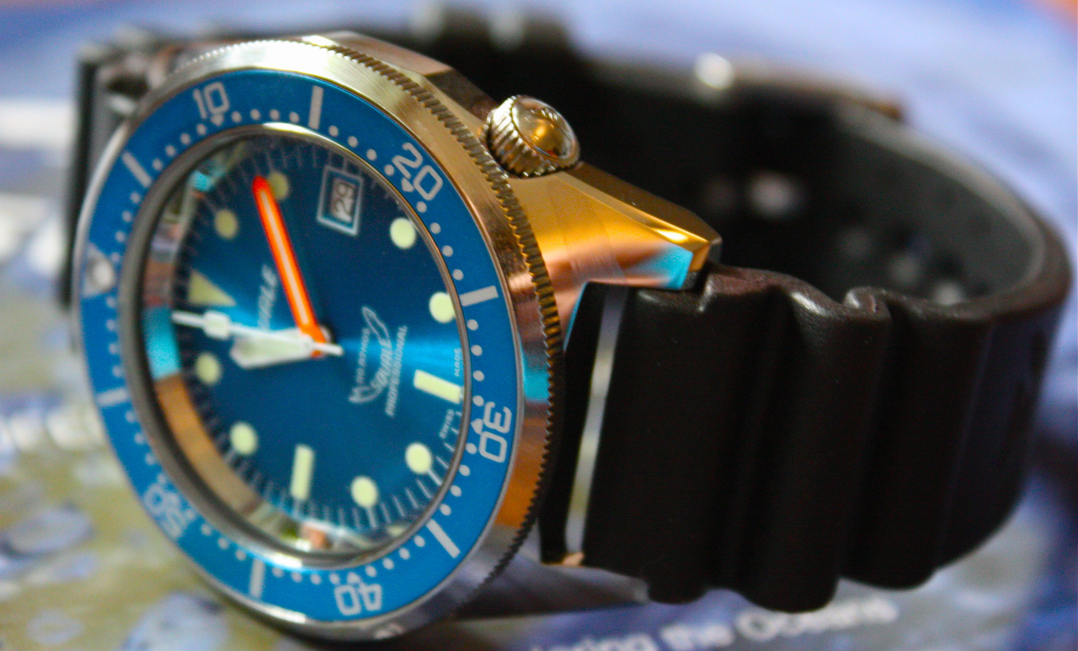 blue watches squale atmos edition