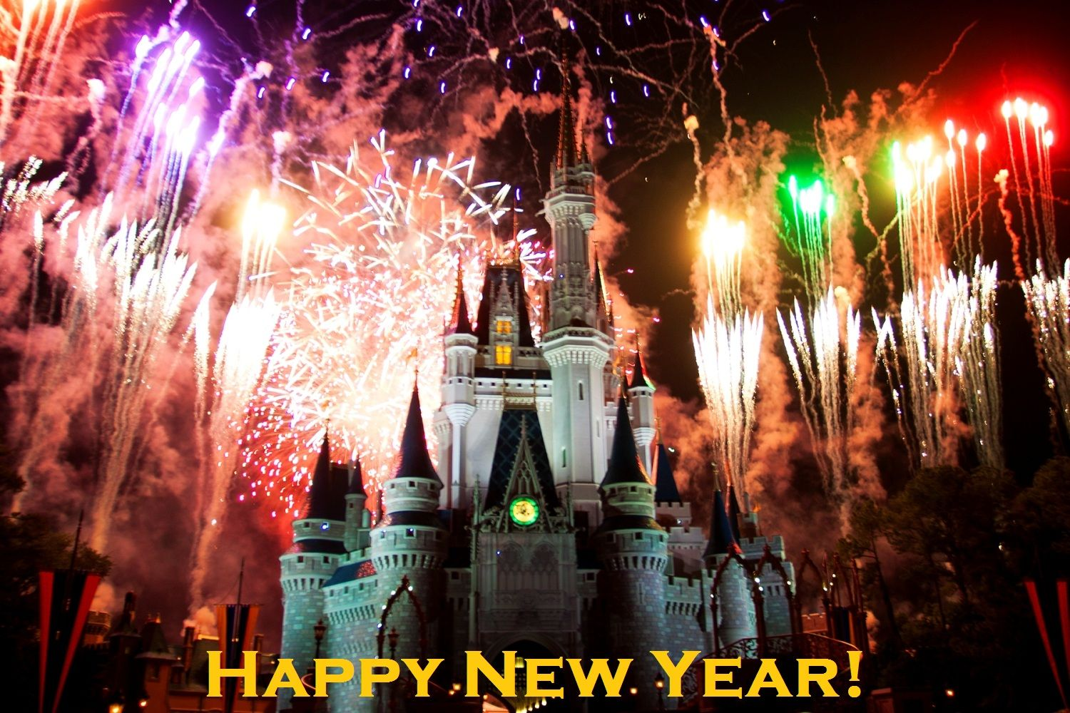 Happy New Year! Fireworks at Cinderella's Castle - Magic ...