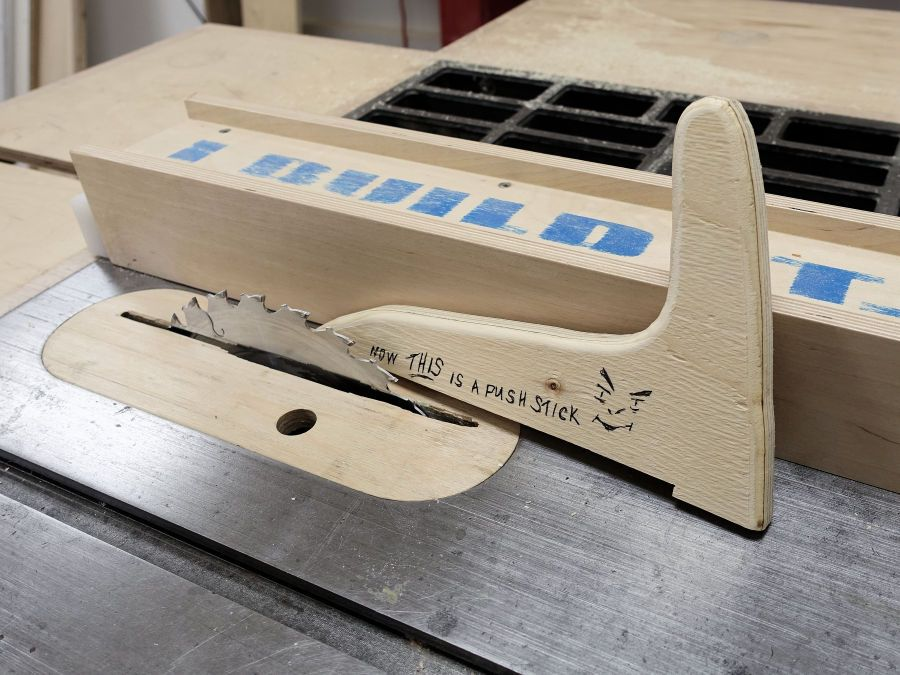 How To Make A Push Stick Table saw push stick, Garage
